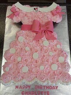 Pull Apart Cupcake Cakes baby shower pull apart cupcake cake