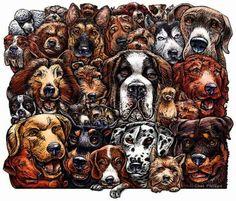 Hunde von ChetArt auf Etsy, $18.00