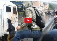 Fuerte represión en manifestaciones de Caracas