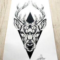 #tattoosketch #deer #deertattoo #cerf #cerftattoo #cerftatouage #dusty #brasseur…