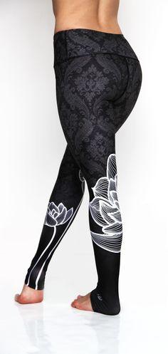 Black Lotus Yoga Pants Back