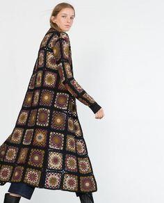 Transcendent Crochet a Solid Granny Square Ideas. Inconceivable Crochet a Solid Granny Square Ideas. Cardigan Au Crochet, Crochet Jacket Pattern, Crochet Coat, Long Cardigan, Crochet Clothes, Crochet Patterns, Knitted Coat, Long Jackets For Women, Cardigans For Women
