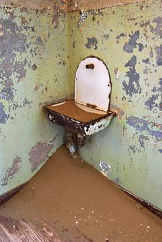 Sink filled with sand at Kolmanskop, Namibia. #namibia