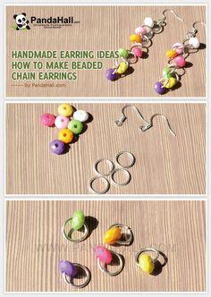 Handmade Earring Ideas- How to Make Beaded Chain Earrings from pandahall.com