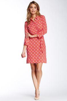 Donna Morgan | Geo Print Shirt Dress