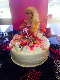 There are plenty of fun bachelorette party ideas that you can implement into your bash. 21st Cake, 21st Birthday Cakes, Barbie Birthday, Barbie Party, Girl Birthday, 21 Bday Cake, Birthday Beer, 21 Party, Drunk Barbie Cake