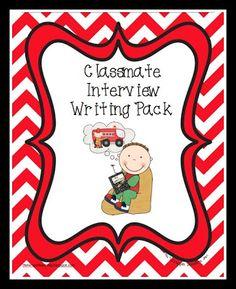 Classmate Interview- Writing FREEBIE