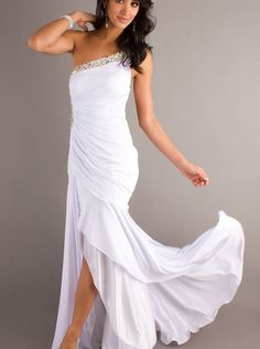 A-line One-shoulder Chiffon Prom Dress Formal Dress/ Evening Dress Parai 93203