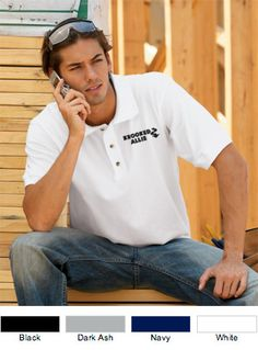 Bayside Pique Embroidered Polo Made In USA $24.69