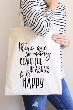 Canvas Tote Bag Motivational Tote Bag by HeartAndWillowPrints More