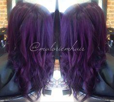 Purple hair formula: Pravana vivids violet & wild orchid Check out my Instagram! @maloriemhair