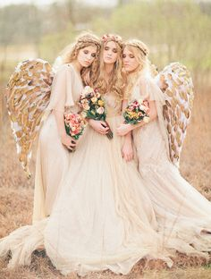 Samuelle Couture dresses. photography, styling, flowers and hair + makeup: Three Nails Photography