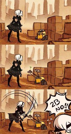 Whenever I pick up a plant seed i feel like WALL-E. Wall E, Anime Meme, Game Character, Character Design, Boca Anime, Cartoon Crossovers, Art Anime, Fan Art, Gaming Memes