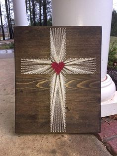 String art cross Mother's Day Christian Home Decor