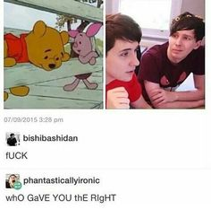 Danisnotonfire & AmazingPhil Who ever did this deserves death. Just kidding but still Dan And Phil Memes, Phil 3, Phan Is Real, Dan And Phill, Danisnotonfire And Amazingphil, Cat Whiskers, Tyler Oakley, Phil Lester, Dan Howell