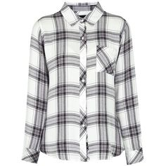 RAILS Hunter Shirt in White Ash ($185) ❤ liked on Polyvore featuring tops, shirts, flannels, white, tailored shirts, tailored white shirt, shirt top, rails shirts and white top