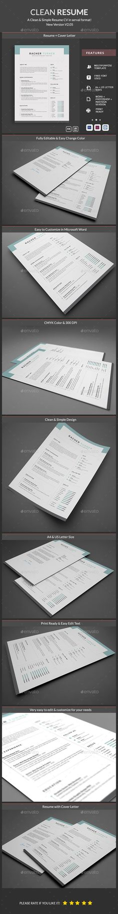 Professional Resume Template   CV Template for Word Cover Resume - artistic resume
