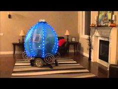 JAYCI the Princess Cinderella/Sofia the First Carriage Ride covered Power Chair Costume. - YouTube