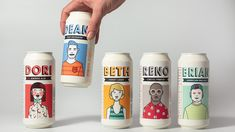 🌗 DRINKS Illustrated Packaging Branding Design with drawn graphic design Product Label featured by Student Concept for Playful, Versatile and Fictional Character Brand and Packaging System for Brewery - World Brand Design Society
