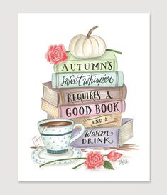 Shut your windows, light the fire, and reacquaint yourself with your favorite fall drink in your big comfy chair and a new novel. A favorite seasonal