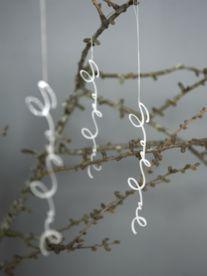 Acrylic Script Ornaments