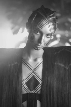 Body art black and white
