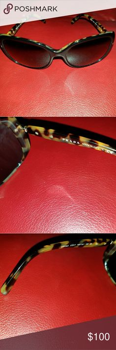 Prada glasses ♡ Cute leopard prada glasses in good shape♡ Prada Accessories Glasses