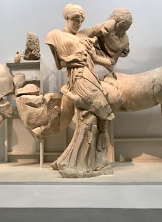 Day the museum of Olympia, the pediment statues of the temple of Zeus. Olympia, Statues, Temple, Greece, Museum, Art, Greece Country, Art Background, Temples