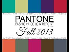 Pantone Fall 2013 Color Report