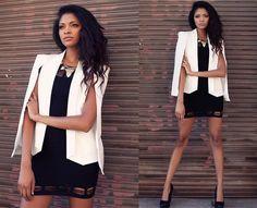 Chic Cape jacket Cape blazer White cape jacket cape coat by MsEdgy