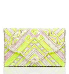 Neon embellished clutch