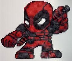 Deadpool perler beads by IAmArkain on deviantART