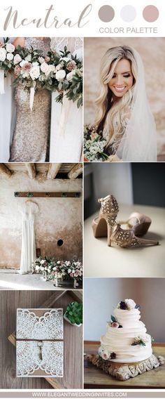 romantic neutral wedding color palette ideas for all brides