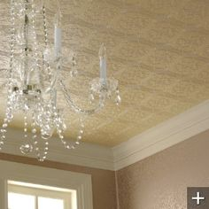 Victorian Effect Paintable Wallpaper