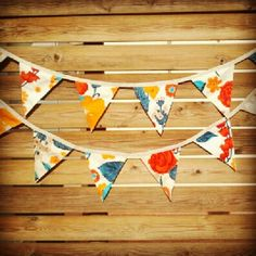 Vintage bunting. 60's fabric