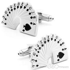 Card Game Cufflinks by Cufflinksman  #Cufflinks #Fashion #Jewelry #shopping