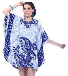 2013727cd8 LA LEELA Soft fabric Cover Up Tassel Women OSFM 14-28 [L-4X] Royal  Blue_5273 at Amazon Women's Clothing store: