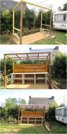 Superb Ideas of How to Recycle Old Wooden Pallets - Pallet Furniture Ideas Old Pallets, Recycled Pallets, Wooden Pallets, Build A Dog House, Old Things, Things To Come, Pallet House, Garden Bar, Pallet Furniture