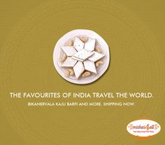 Kaju Katli is India's favourite sweet. Made from Cashew Nuts, this #mithai can be bought online at bit.ly/sendmithaionline