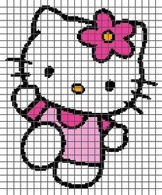 "Hello Kitty Crochet Graphghan Pattern (Chart/Graph AND Row-by-Row Written Instructions) [ ""Hello Kitty Crochet Graphghan Pattern (Chart/Graph AND Row-by-Row Written Instructions):"" ] # # # # # # # # # Graph Crochet, Pixel Crochet, Crochet Cross, Knitting Charts, Baby Knitting, Knitting Patterns, Crochet Patterns, Cross Stitching, Cross Stitch Embroidery"