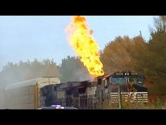 Norfolk Southern Train on Fire - YouTube
