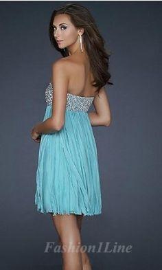 A-Line Chiffon Sweetheart Short Dress fashion03814
