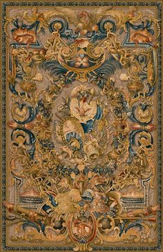 Le Feu tapestry, The Fire tapestry, was woven in the century for a Paris convent, now at the Palace of Versailles. A very detailed Belgian wall-hanging Medieval Tapestry, Medieval Art, Medieval Times, Motif Art Deco, French Decor, Belle Epoque, Middle Ages, Oeuvre D'art, Old World