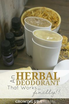 An Herbal Deodorant That Works... Finally! | GrowingUpHerbal.com | I've been through my share of natural deo recipes that don't work. Finally, here's one that does!