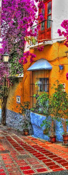 Spain Travel Inspiration - Restorante El Pozo Viejo in Marbella, Spain   it looks just like Cartagena, Colombia
