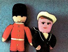 PDF Vintage 1940s Nautical 'Sailor & Guardsman' Toy Knitting Pattern, Teddy, Rag Doll, Toy, Retro, Make Do and Mend, Children, Keepsakex