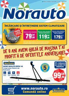 Catalog Norauto 27 Mai - 07 Iulie 2017! Oferte: suport bicicleta Vertik 145, 2 chingi incluse, 99,90 lei; ulei Castrol Magnatec A3/B4 4L 95,90 lei 27 Mai, Lei, Catalog, Motorbikes