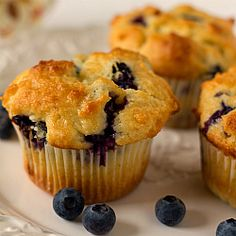 Best recipe ever for Blueberry Muffins -use Greek yogurt instead of sour cream.