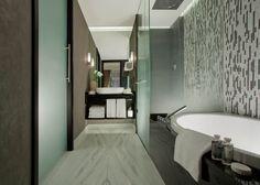 Hotel Schweizerhof Bern & The Spa, Bern, Switzerland Bern, Luxury Hotel Design, Double Shower, Shower Tub, Modern Interior Design, Best Hotels, Switzerland, Bathtub, Hotel Bathrooms