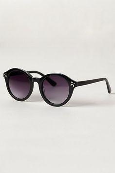 Nolana Sunglasses - Round Black Frames anthropologie.com